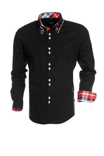 Carisma Chemise à manches longues - en plusieurs couleurs - Homme, Noir, XL