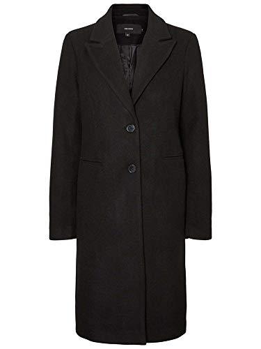Vmblaza Femme Long Manteau Noir Wool Moda Vero Jacket AF1Ocx
