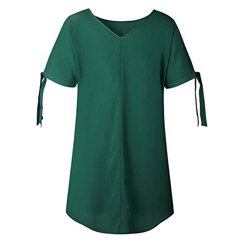 Colore Solido Verde Di Rotondo Donne Del Signore tmVestito Modo Breve Collo Le Il Mini Manica Casuali Delle Perdono Abiti Damark Dal Partito PXuOkTwZi