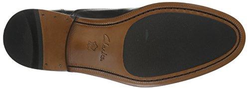 Clarks Coling Boss, Zapatos de Cordones Derby para Hombre Negro (Black Leather)