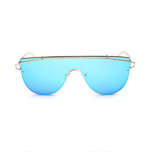 De UV Siamesa De Hombres La Blue Sol De Los Gafas De Lente Gafas Sol Red Lentes Sol De Siameses Moda ZTx7RqgS