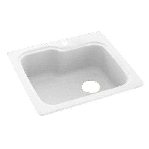 Swanstone KSSB-2522.010 25-Inch by 22-Inch Single Bowl Kitchen Sink, White