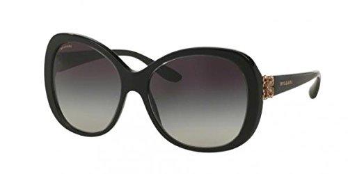 Bvlgari 53838G Crystal / Black 8171B Butterfly Sunglasses - Bvlgari Mens Sunglasses