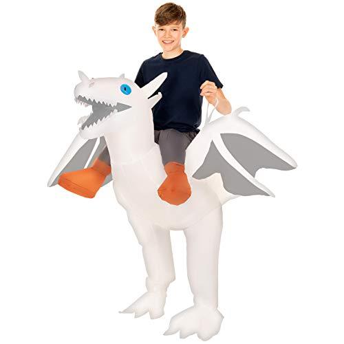 Astrid Costume - Morph White Inflatable Ride-On Dragon Halloween