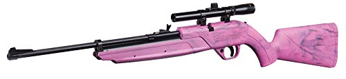 Crosman 760PX Pumpmaster Bolt-Action Variable Pump Air Rifle with 4x15 Scope, Pink
