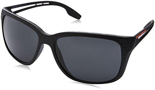 Prada Sport PS03TS 1BO5S0 Matte Black PS03TS Rectangle Sunglasses Lens Category - Prada Rectangle Sunglasses
