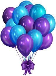 evisha hd big size 50 pcs metallic latex purple and blue balloons