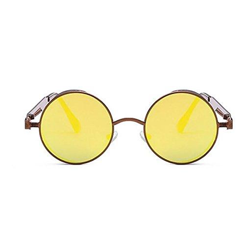 Sol Clásicas Gafas Vintage Gafas UV De Gafas Punk Pesca Metal De Sol Hombres Pin Protección Marco Mujeres Unisex Yellow Nuevas 2018 De Para Antideslumbrante Gafas Deportivas Sol De Conducción Y Redondo UwHqPa