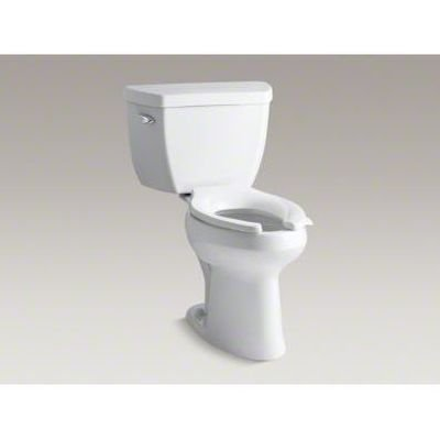 Kohler K-3493-0 Highline Classic Pressure Lite Comfort Height Elongated 1.6 gpf Toilet with Left-Hand Trip Lever, Less Seat, White