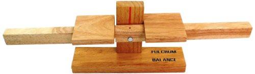 Simple Wooden Machine: Fulcrum Balance-Scale Model, (92312)