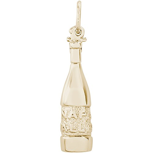 (Rembrandt Charms 14K Yellow Gold Napa Valley Wine Bottle Charm (22.5 x 6.5)