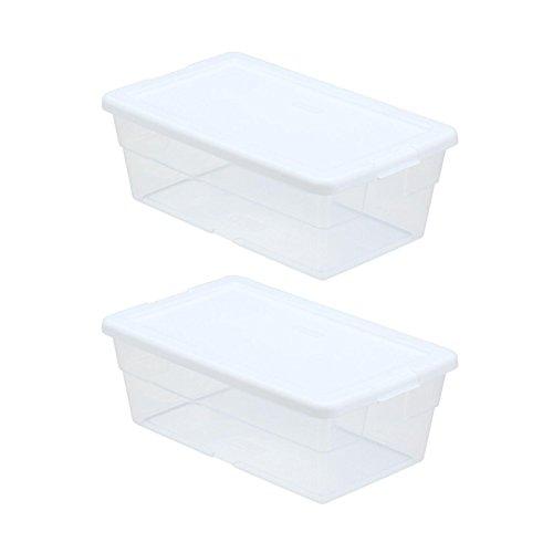 Sterilite Storage Box 13.5 X 8.3 X 4.8, 6 Qt. Clear - Pack of -