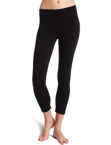 LA Made Women's Heavy Crop Legging, Black, X-Large