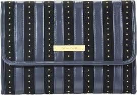 - Trina Tartan + Twine Desert Damsel Navy Blue Hanging Valet Travel Cosmetic Bag