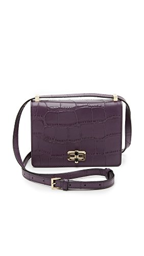 Diane von Furstenberg Women's 440 Gallery LES Cross Body Bag, Eggplant, One Size