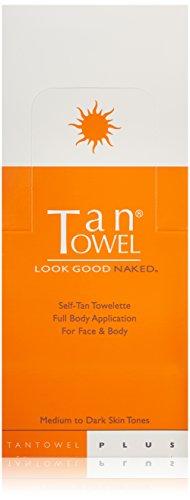 Tan Towel Self Tan Towelette  Medium to dark Skin -