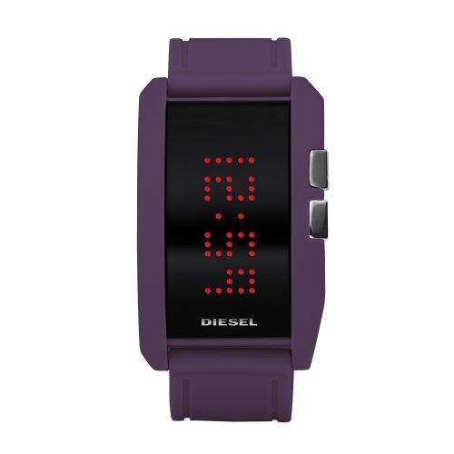 Diesel Watches Diesel Men's Purple Color Domination LED Digital Black Dial Watch (Diesel Men Digital Watch)
