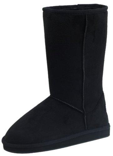 U.A.A. INC Women's Tall Classic Faux Sheepskin Boot,8 B(M) US,Black HS001.Black HS001