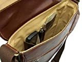 Chiarugi Genuine Italian Leather Portfolio Briefcase in Black, Bags Central