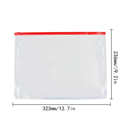 336f46864c4c EzSos Zipper Envelope, Waterproof PVC A4 File Bag, Seamless Slider ...