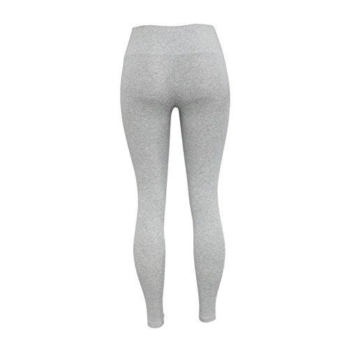 Y&L Cintura Alta Pantalones De Deporte De Las Mujeres De Entrenamiento De Gimnasio Fitness Yoga Delgado Leggings Medias Gris