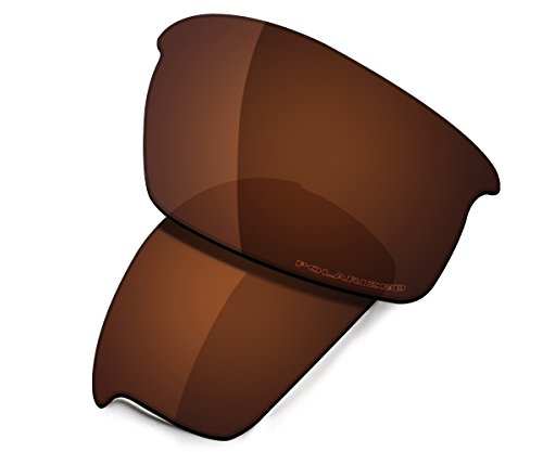 Saucer Premium Replacement Lenses for Oakley Bottlecap Sunglasses High Defense - Amber Brown ()