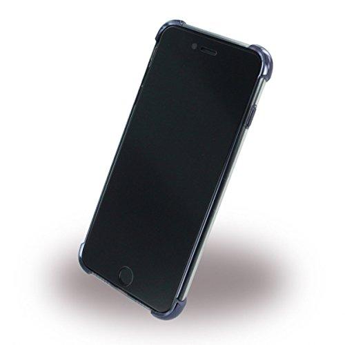 ureparts–Black Corner Coque Cover Housse en silicone–Apple iPhone 7Plus–Noir transparent (160433)