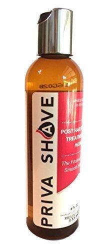 Priva afeitado Post depilación Gel para el afeitado en pelos encarnados y camiseta para mujer Priva Shave Priva Shave 4oz