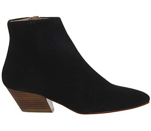 Office Black Suede Atone Boots Block Western Cognac Heel gWxRrgCwq