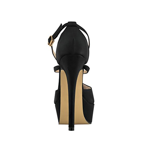 430a22567a1 ZriEy Women Sandals 14CM 55 inches HighHeeled Peep Toe Platform Party  Sandals for Wedding Working Shoes Double Color