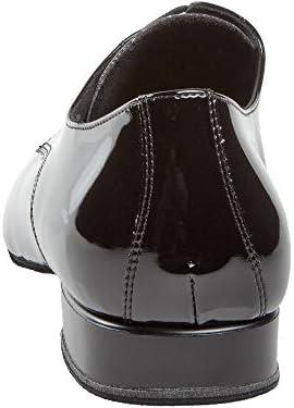 Diamant Hombres Zapatos de Baile 179-025-038 - Charol Negro - Confort - 2 cm Standard - Made in Germany