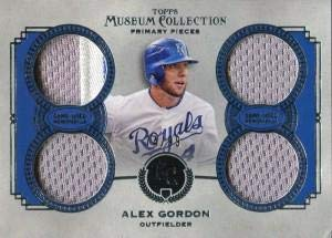 (Alex Gordon Unsigned 2013 Topps Museum Collection Jersey Card - Baseball Game Used Cards)