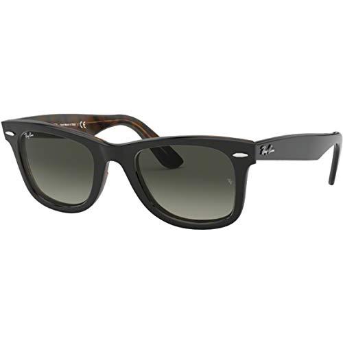 (Ray-Ban Men's Wayfarer Square Sunglasses, Top Grey on Havana, 52.1 mm)
