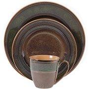 marmara park 16piece dinnerware set metallic glazegibson