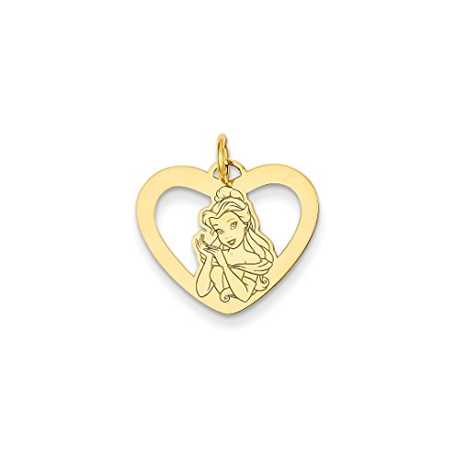 ICE CARATS 14kt Yellow Gold Disney Belle Heart Pendant Charm Necklace Licensed Fine Jewelry Ideal Gifts For Women Gift Set From Heart 14kt Gold Disney Jewelry
