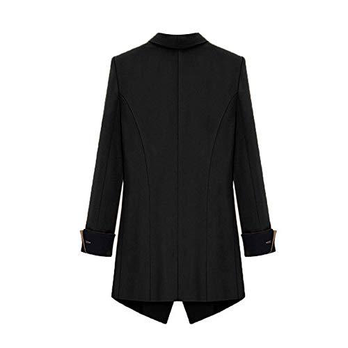 Mujer Mujer Ashop Capucha Reflectiva Negro Abrigo Invierno Ropa Lana Chaqueta De Capa Chaquetas Con 5rwxqCIw