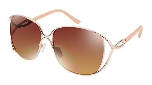Rocawear Women's R569 Rgdnd Oval Sunglasses, Rose Gold & Nude, 62 mm