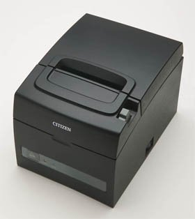 Serial Pos Printer - Citizen America CT-S310II-U-BK CT-S310II Series Two-Color POS Thermal Printer with PNE Sensor, 160 mm/Sec Print Speed, USB/Serial Connection, Black