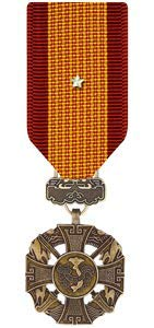 Medals of America Vietnam Gallantry Cross with Silver Star Medal Miniature Bronze