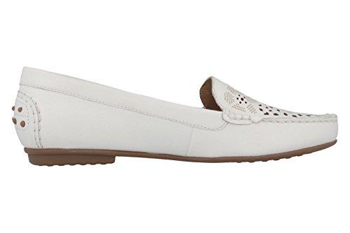 Gabor–Mocassin Femme–Blanc Chaussures en übergrößen