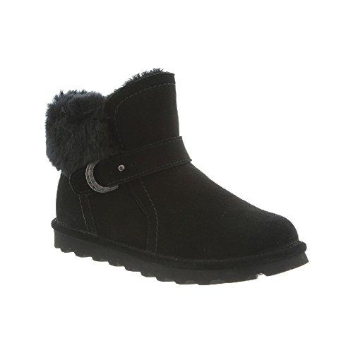 BEARPAW Womens Koko Boots, Suede, Faux Rabbit, Rubber