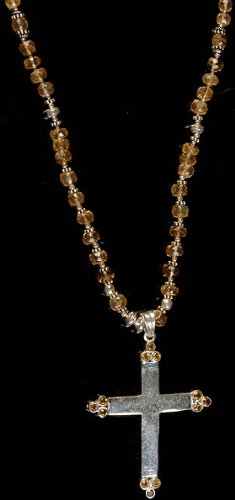 Amazon citrine cross necklace sterling silver jewelry citrine cross necklace sterling silver aloadofball Gallery