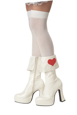 California Costumes Alice in Wonderland Boots - White, Large (9-10)