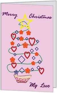 Christmas Holidays Love Wife Husband Sweetie Seasons Greeting Card (5x7) (Birchcraft Card)