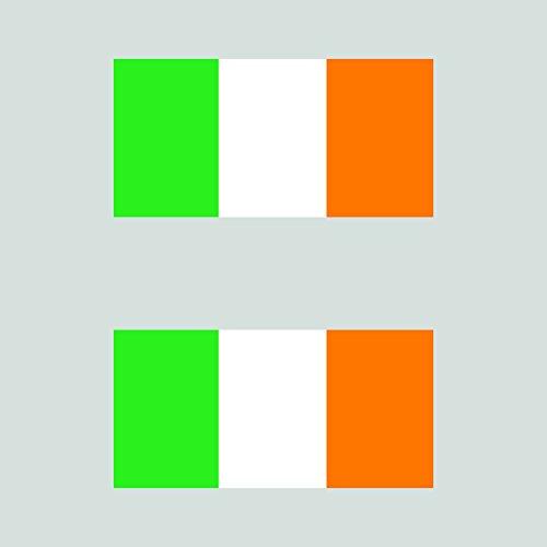 Two Pack Irish Flag Sticker FA Graphix Decal Ireland
