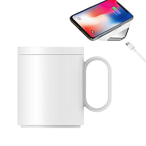 Ceramics Coffee Mug set, Eaglean Wireless Charging Electric Cup Japanese Style Muggs Ceramics Coffee Mug Wireless Weating/Wireless Charging 55 Degree - Style Phone Porcelain