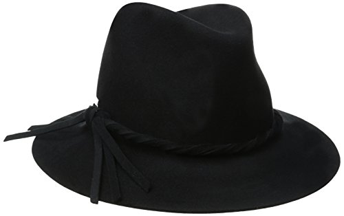 Betmar Women's Charlie Felted Fedora Hat, Black, Medium/Large by Betmar
