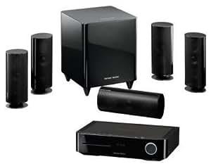 Harman/Kardon BDS 800 - Equipo de Home Cinema (Reproductor de DVD, 65 W, 5.1, 87.5 – 108.0 MHz, 353 x 267 x 267 mm, 9 kg) Negro