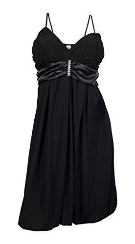 eVogues Black Wrap Bodice Empire waist plus size Dress - 1X