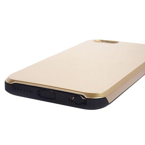 E8Q superior de lujo a prueba de golpes de goma del caso del metal de de la armadura la caja protectora para iPhone 6 Plus 5.5 Verde